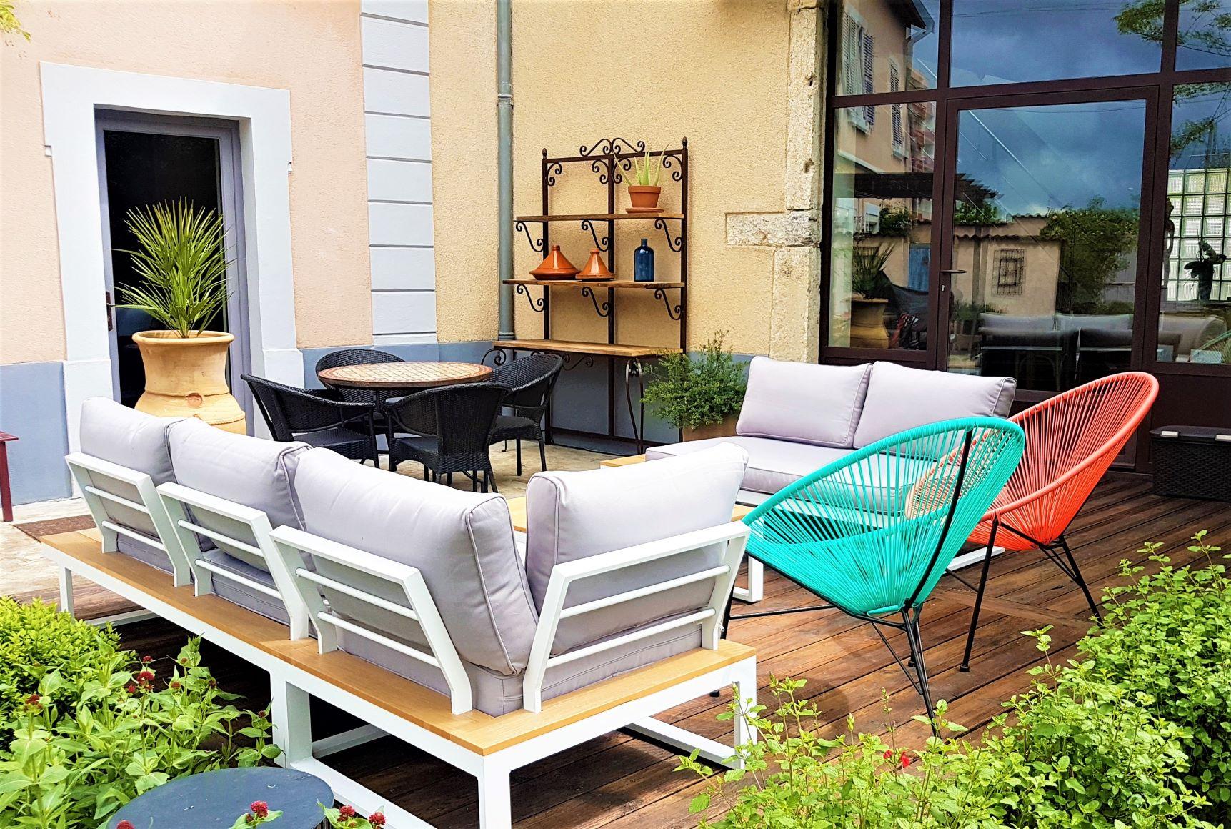 salon de jardin contemporain