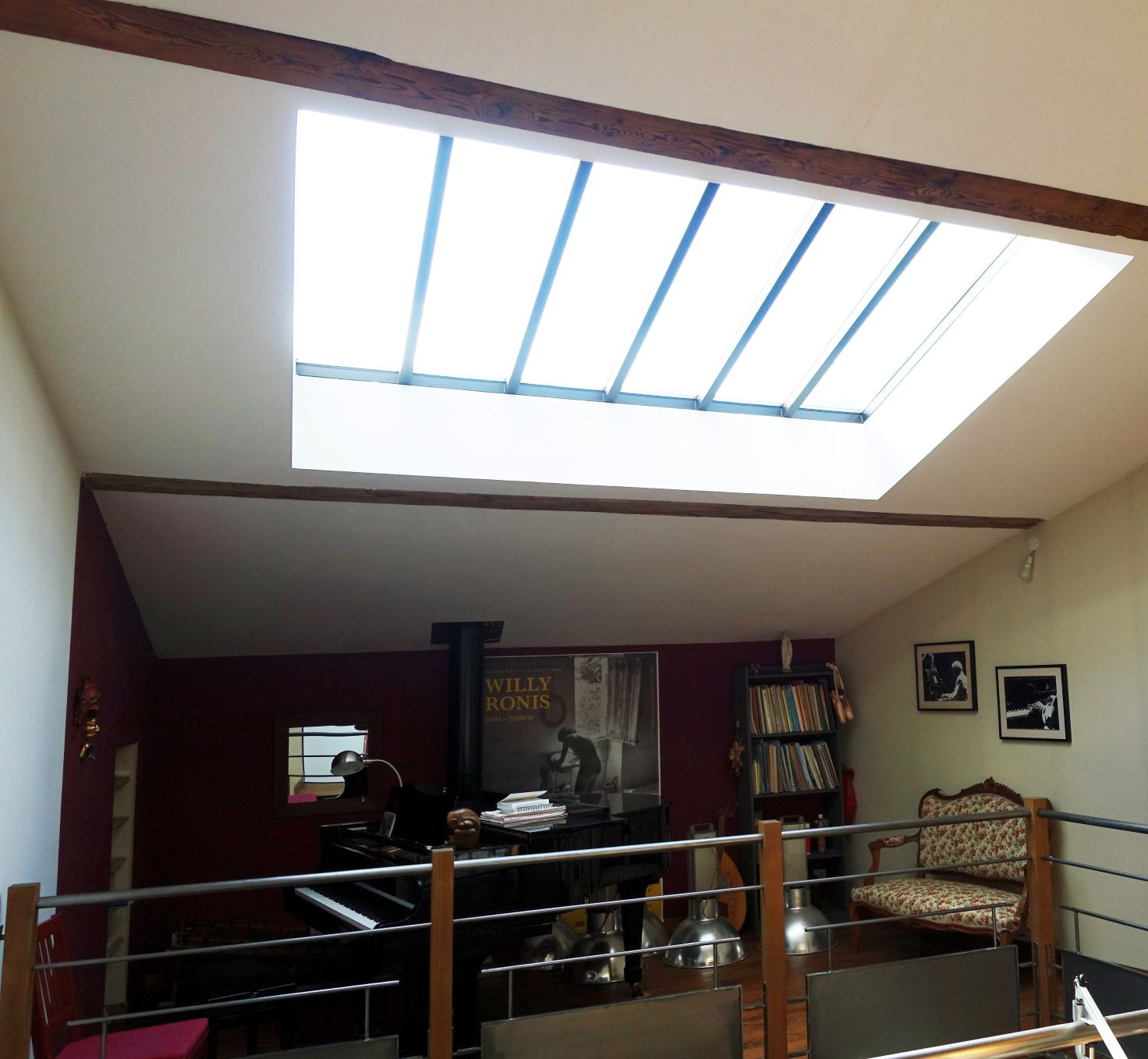 Verriere de toit style industriel