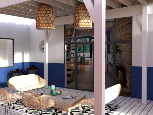 Visuels 3D d'un projet d'aménagement de terrasse de rêve!